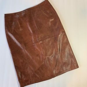 """Chico""""s Faux Snake Skin Pencil Skirt Size 4"""